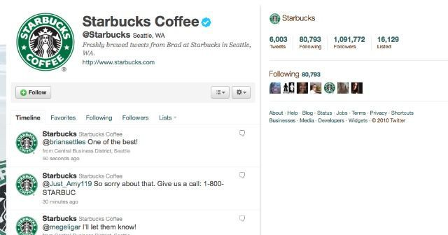 Starbucks does a wonderful job engaging with consumers on social media